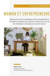 Maman et entrepreneure couverture